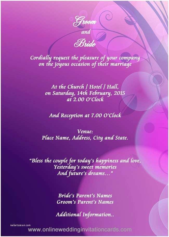 Online Editable Wedding Invitation Cards Free  Editable Invitation Cards Free