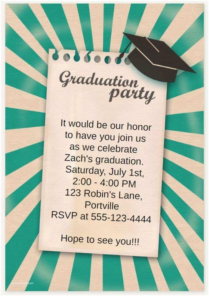 Online Graduation Invitations 25 Unique Free Printable Graduation Invitations Ideas On