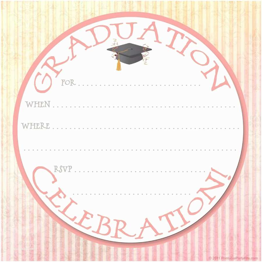Online Graduation Invitations 40 Free Graduation Invitation Templates Template Lab