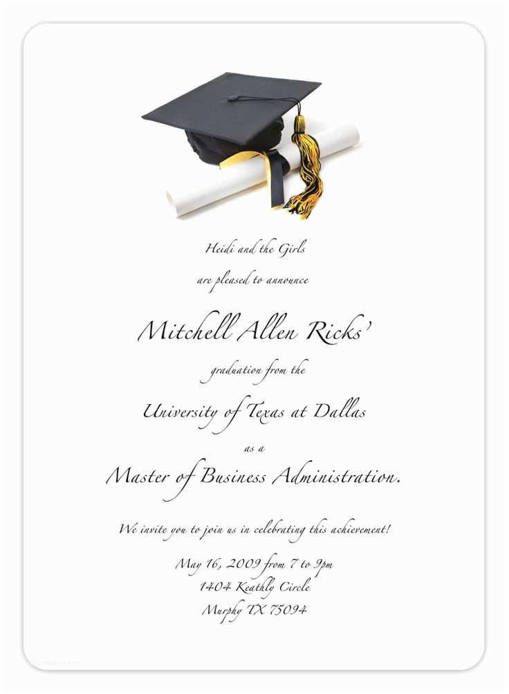 Online Graduation Invitations Best 25 Graduation Invitation Templates Ideas On