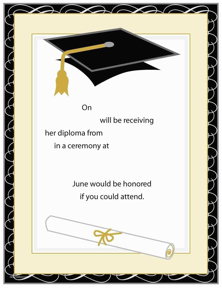 Online Graduation Invitations Invitations for Graduation Template Resume Builder