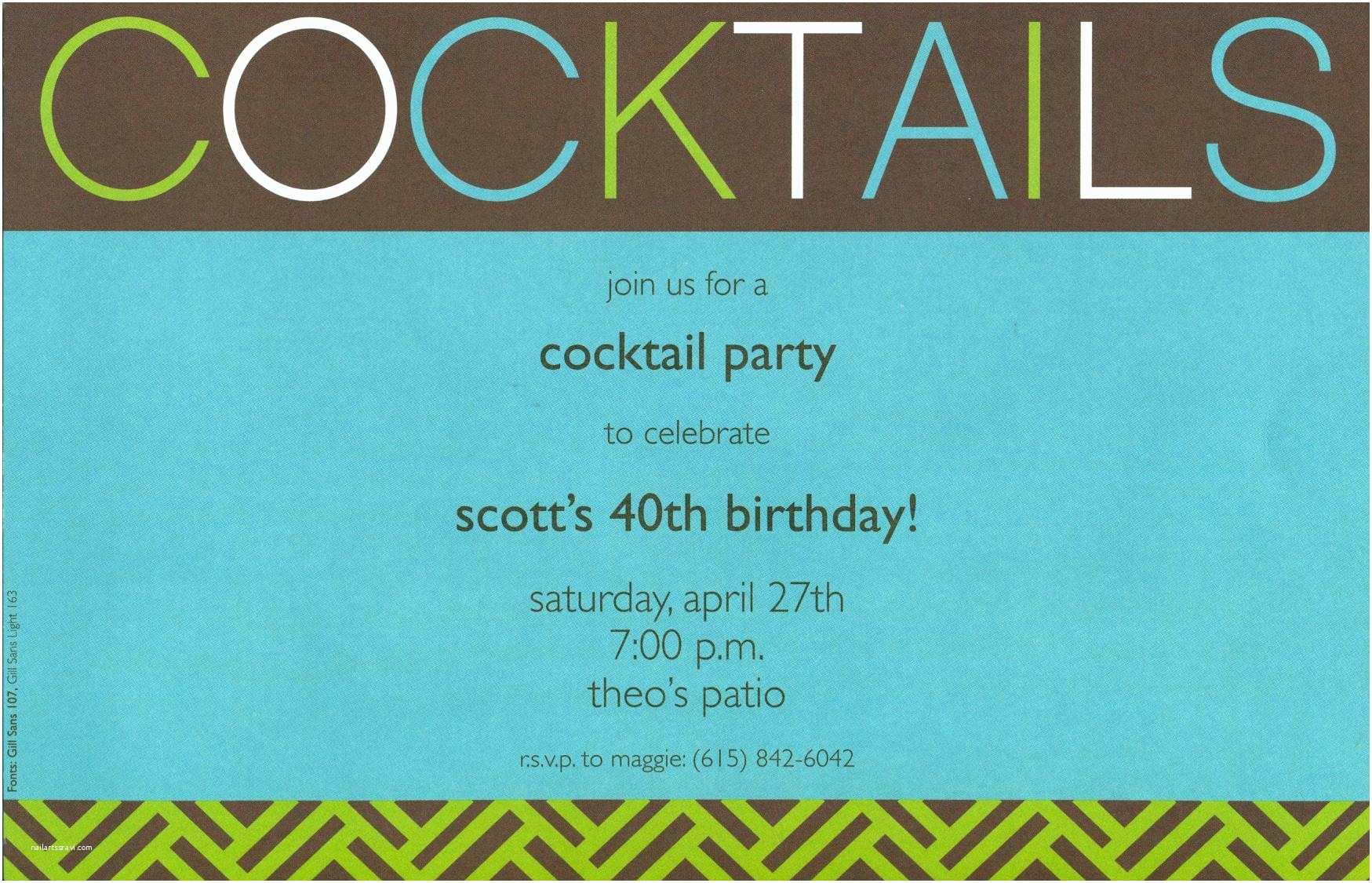 Online Party Invitations Cocktail Party Invitations