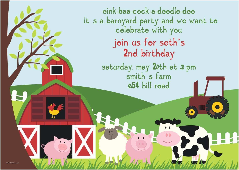 Online Party Invitations Farm Birthday Party Invitations