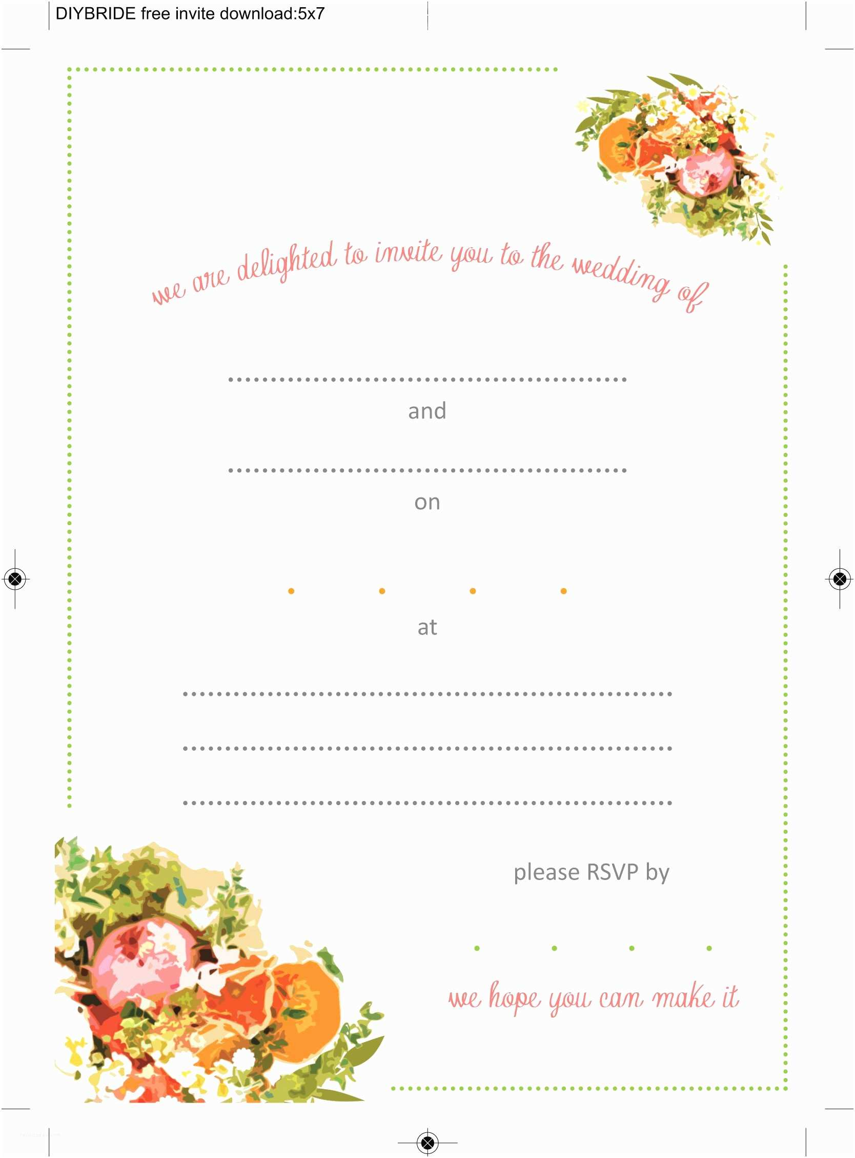 Online Printable Wedding Invitations Free Printable Wedding Invitation Templates Download