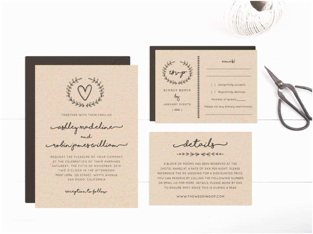 Online Printable Wedding Invitations Free Rustic Wedding Invitation Templates – Gangcraft