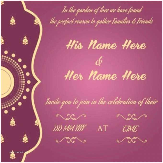Online Wedding Invitation Card Maker Wedding Invitation Card Maker Line Free