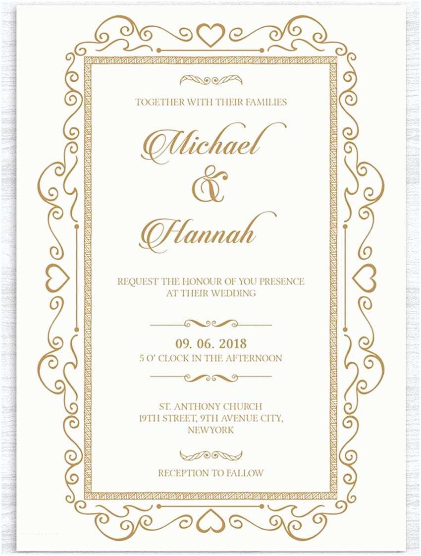 Online Wedding Invitation Free Download Invitations Captivating