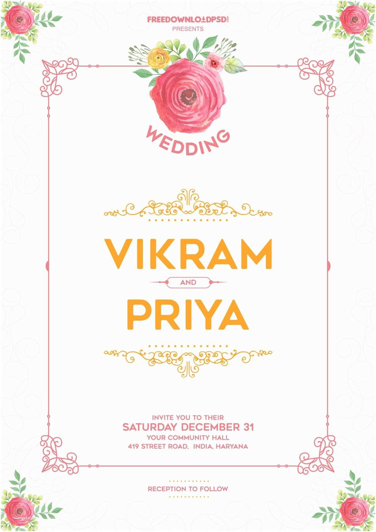 Online Wedding Invitation Free Download Wedding Invitation Template