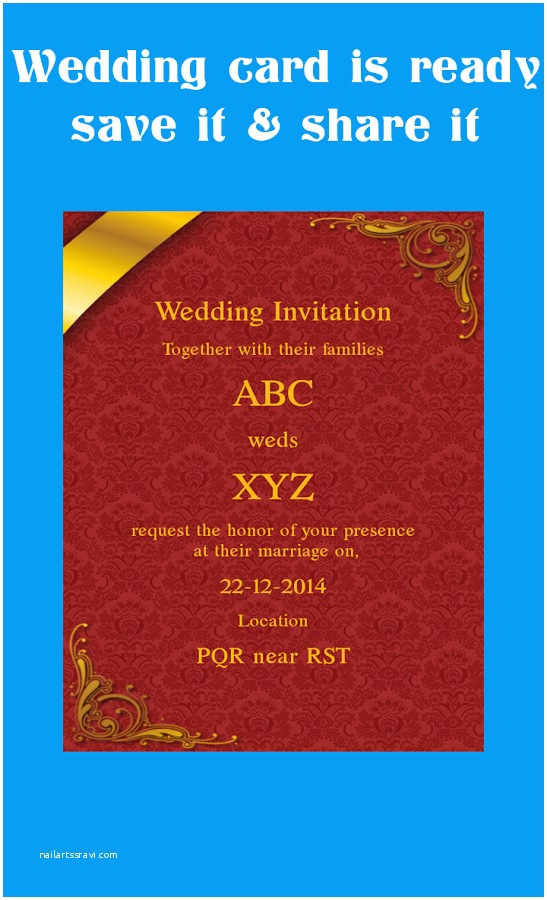 wedding invitation card editor online