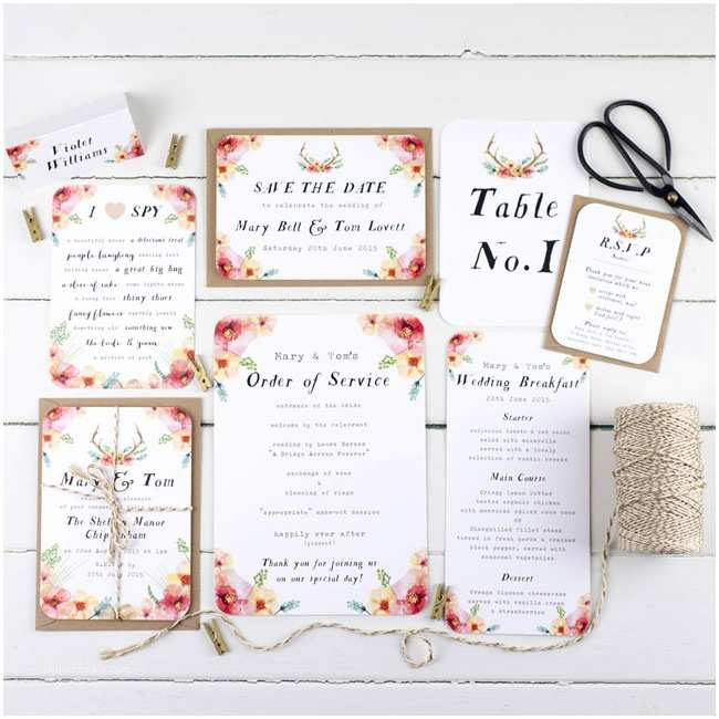 Online Wedding Invitations Uk 11 Charmingly Quirky Wedding Invitation Ideas for Boho