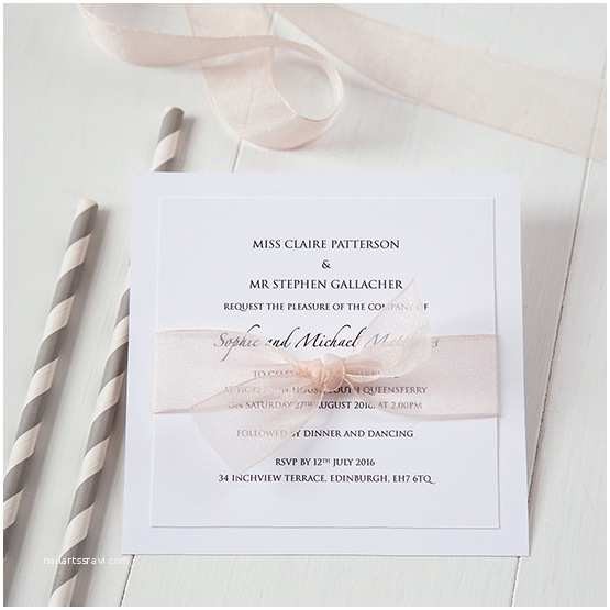 Online Wedding Invitations Uk organza Wedding Stationery