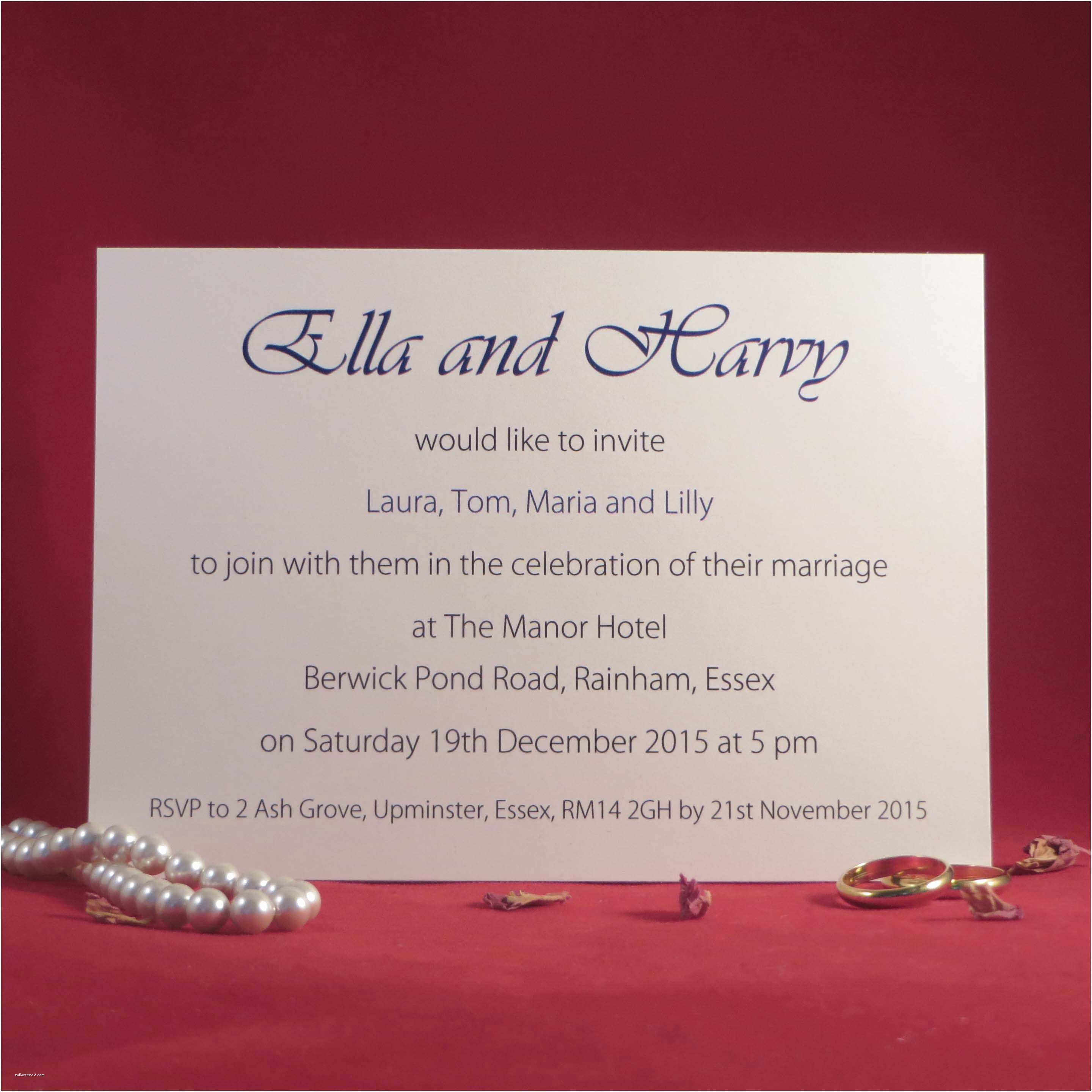 Online Wedding Invitations Uk Personalised Elegance Wedding Invitations