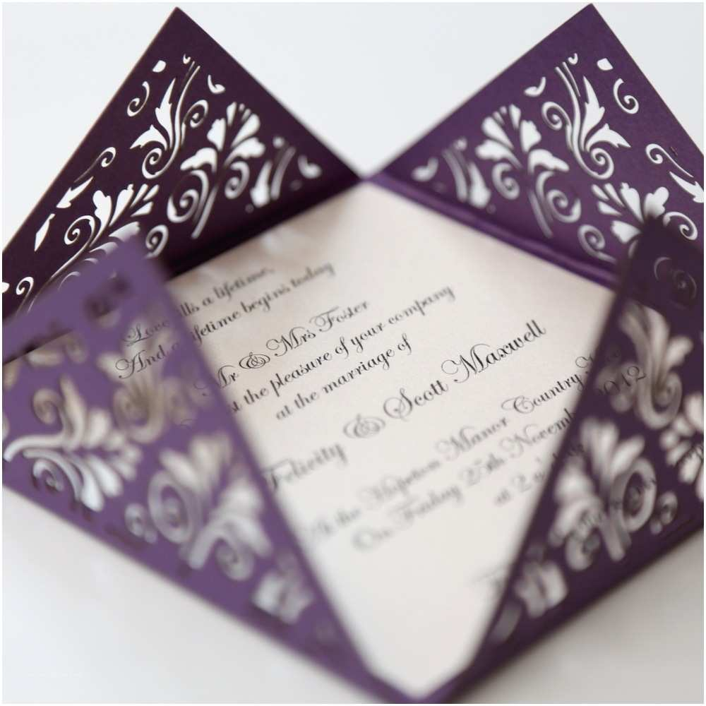 Online Wedding Invitations Uk Purple Wedding Invitations Unique Cadburys Purple & orange