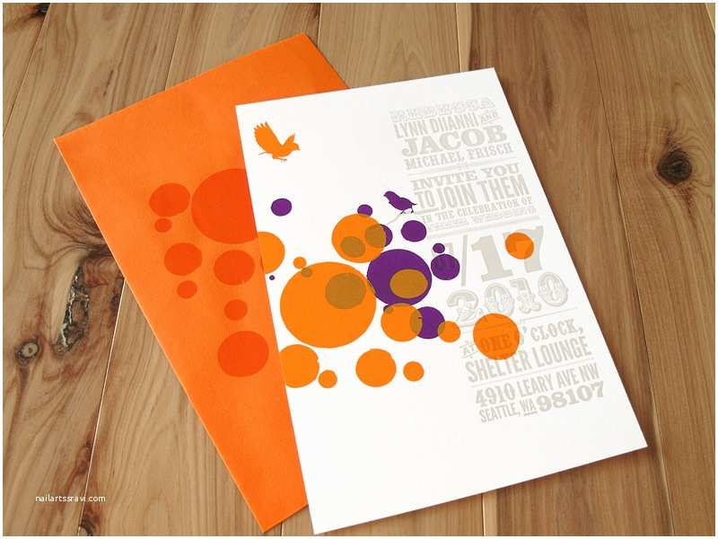 Orange Wedding Invitations Circus Poster Inspired Wedding Invitations