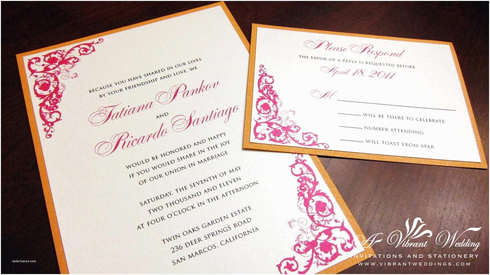 Orange Wedding Invitations Indian theme Designs – Page 2 – A Vibrant Wedding
