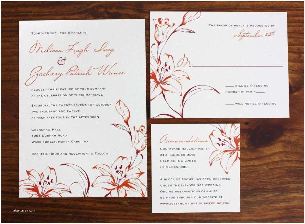 Orange Wedding Invitations orange Wedding Invitations