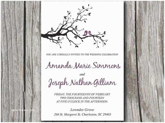 Orchid Wedding Invitation Kits Love Bird Wedding Invitations Template Resume Builder