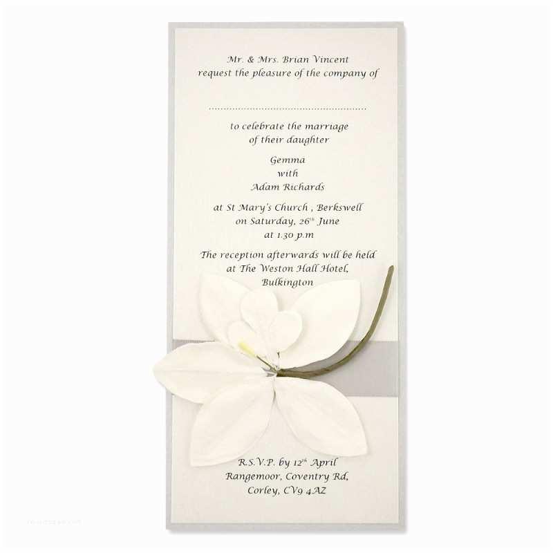 Orchid Wedding Invitation Kits orchid Long Layer Invitation