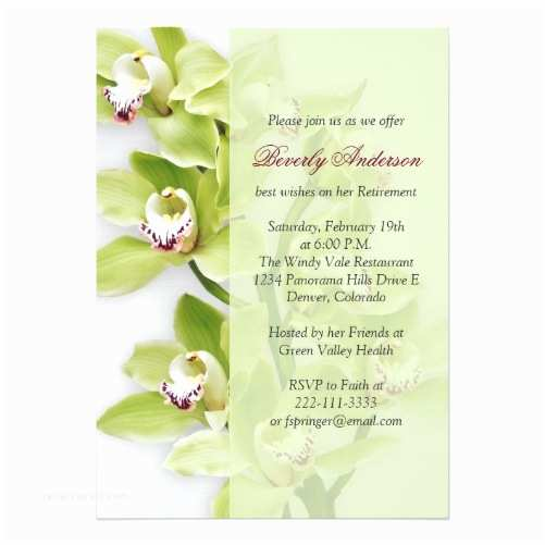 Orchid Wedding Invitation Kits Retirement Shop Wasootch