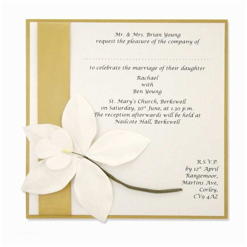 Orchid Wedding Invitation Kits Self assembly orchid Square Invitation More Colours