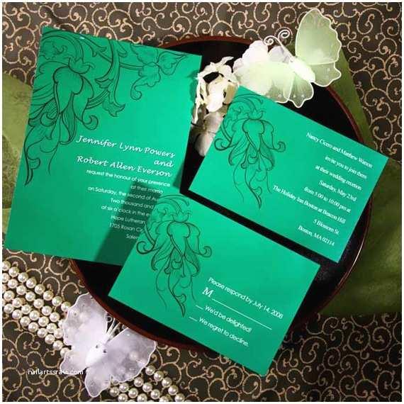 Orchid Wedding Invitation Kits Vintage Design Ideas