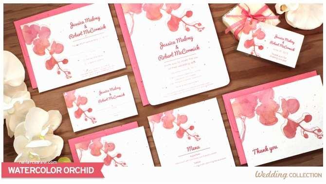 Orchid Wedding Invitation Kits Watercolor orchid Catalog