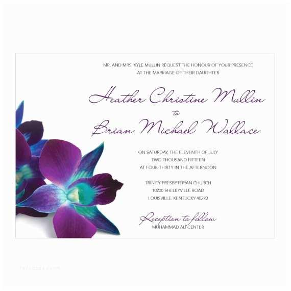 Orchid Wedding  Blue & Purple Orchid Wedding