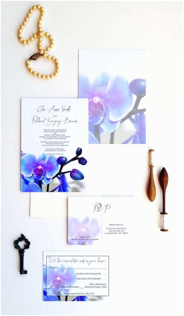 Orchid  Invitations Blue Orchid  Invitations Dendrobium Orchid