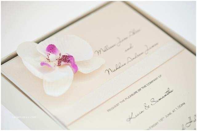 Orchid Wedding Invitations Handmade Wedding Invitations Gorgeous Stationery