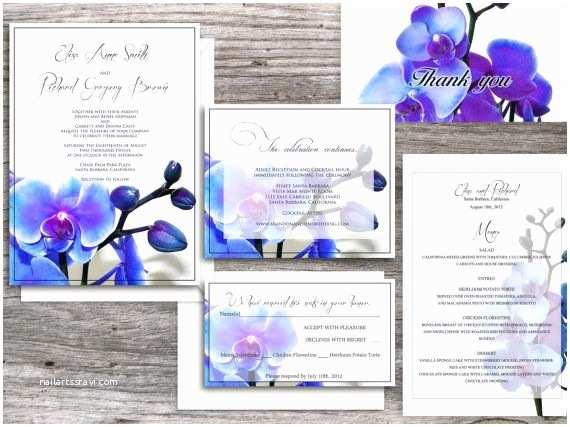 Orchid Wedding Invitations Orchid Printable Wedding Invitations Santa Monica