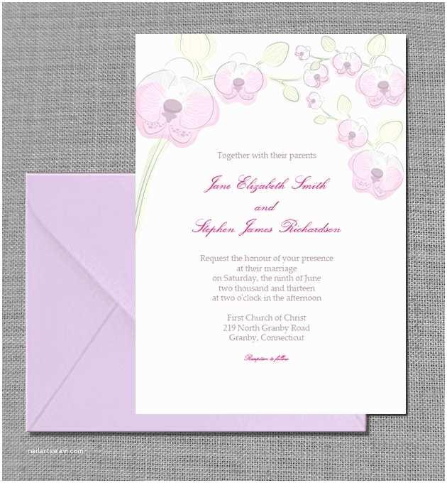 Orchid Wedding Invitations orchid Wedding Invitation