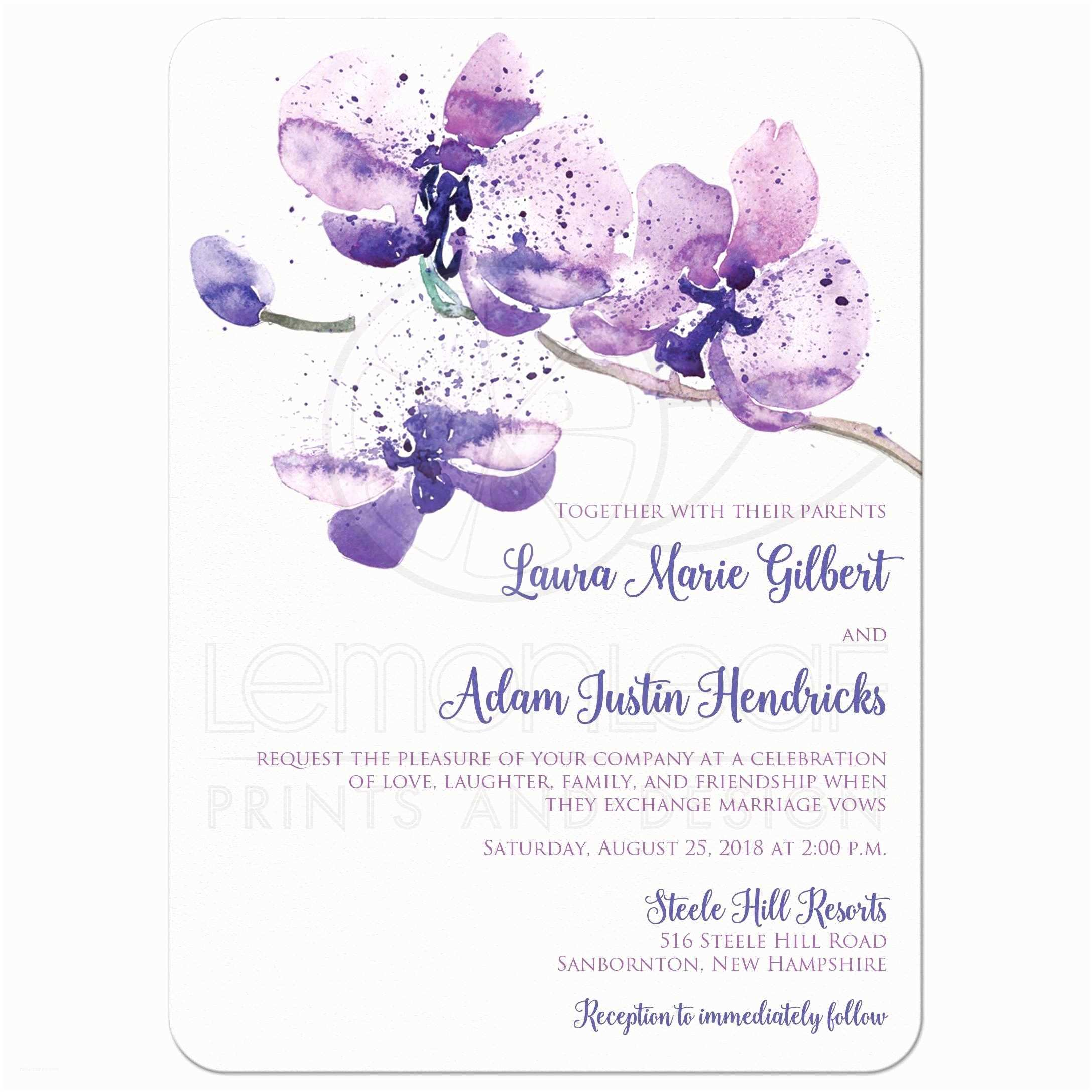 Orchid Wedding S Pretty Purple Pink Watercolor Orchid Wedding