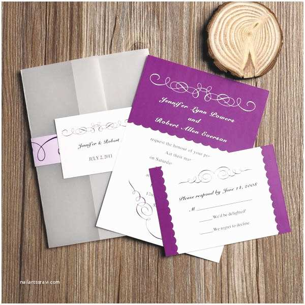Orchid Wedding Invitations Purple Hues For Winter Wedding Color Ideas And