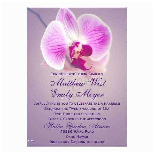 Orchid Wedding Invitations Purple Radiant orchid Wedding Invitation