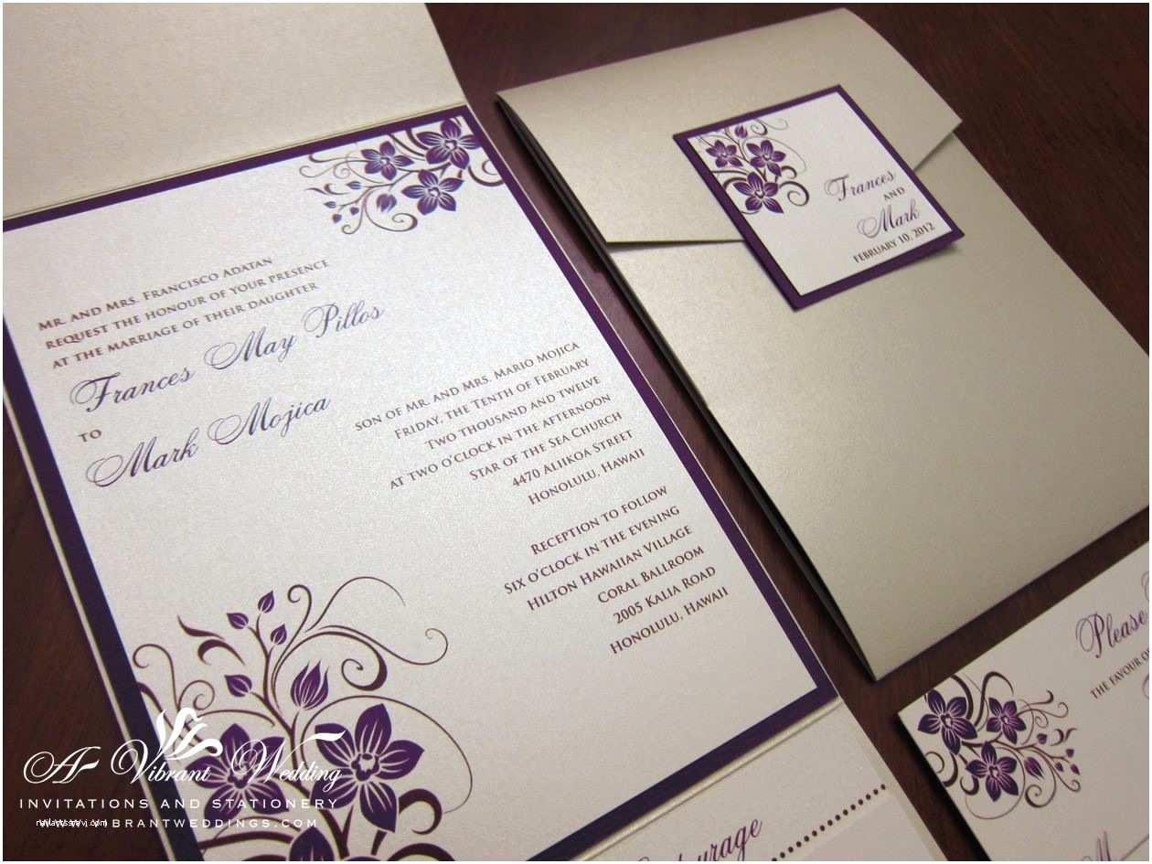 Orchid Wedding Invitations  Wedding Invitations Wed Champgnpurpleorchid