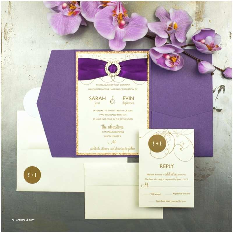 Orchid Wedding Invitations Radiant Orchid Wedding Invitations Too Chic &
