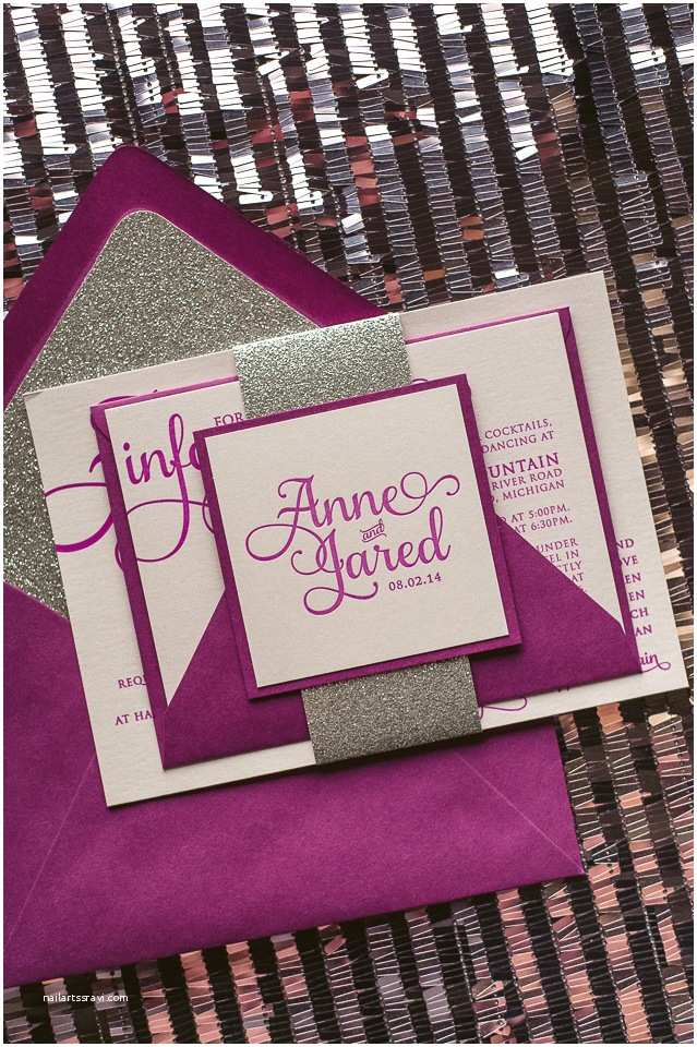 Orchid Wedding Invitations Real Wedding Anne and Jared