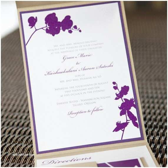 Orchid Wedding S Red Pearl Designs — Pocketfold Orchid Wedding