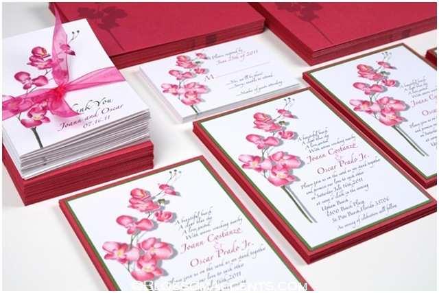 Orchid Wedding Invitations Wedding Blossoms orchid Wedding Invitations