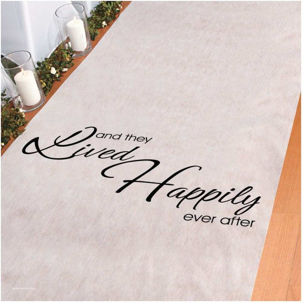 Oriental Trading Company Wedding Invitations and they Lived Happily Ever after Aisle Runner Party
