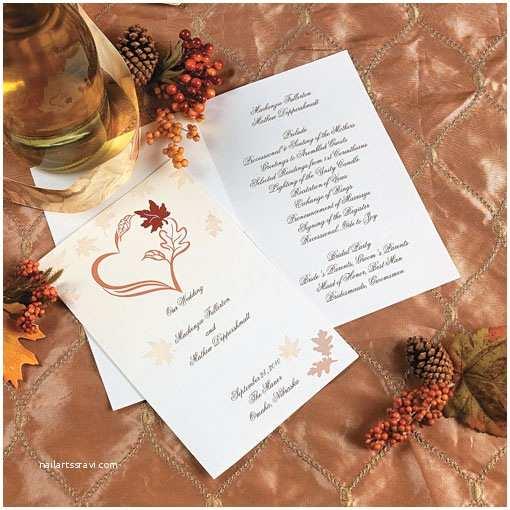 fall wedding programs oriental trading