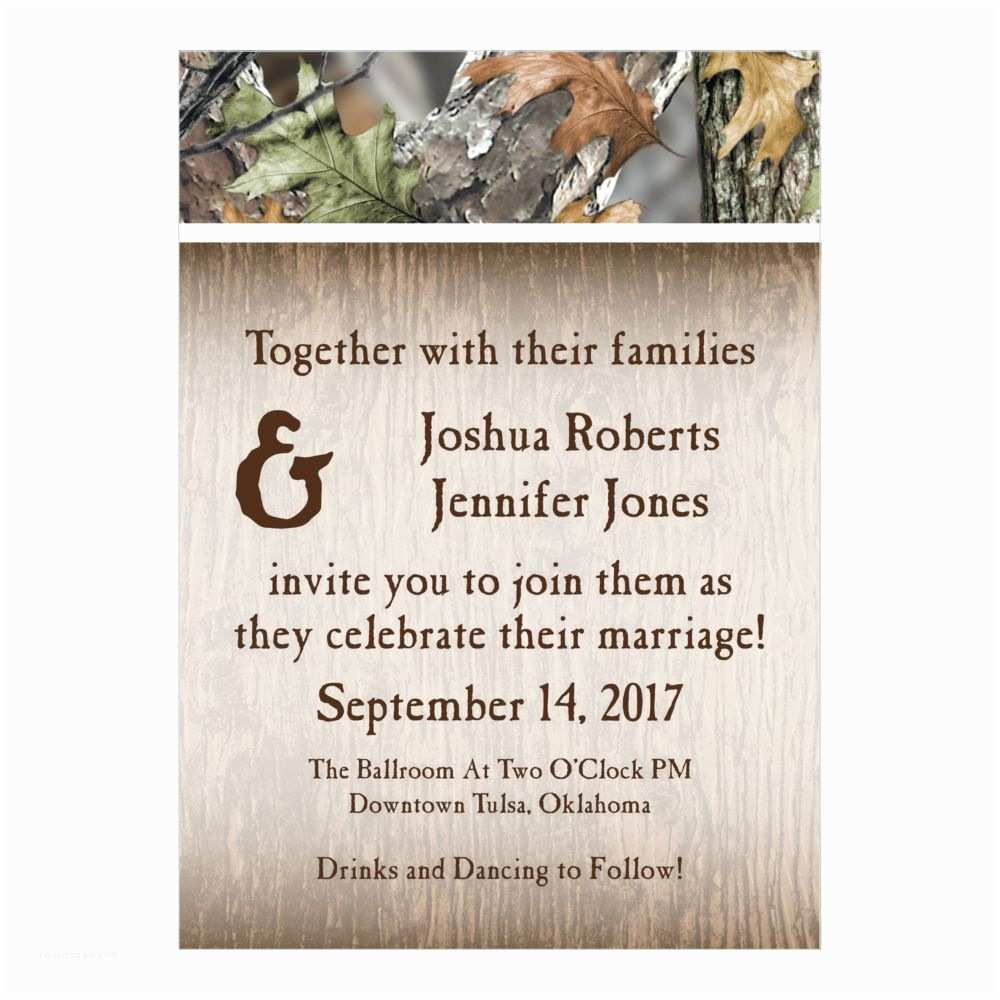Oriental Trading Company Wedding Invitations Personalized Camo Wedding Invitations Invitations