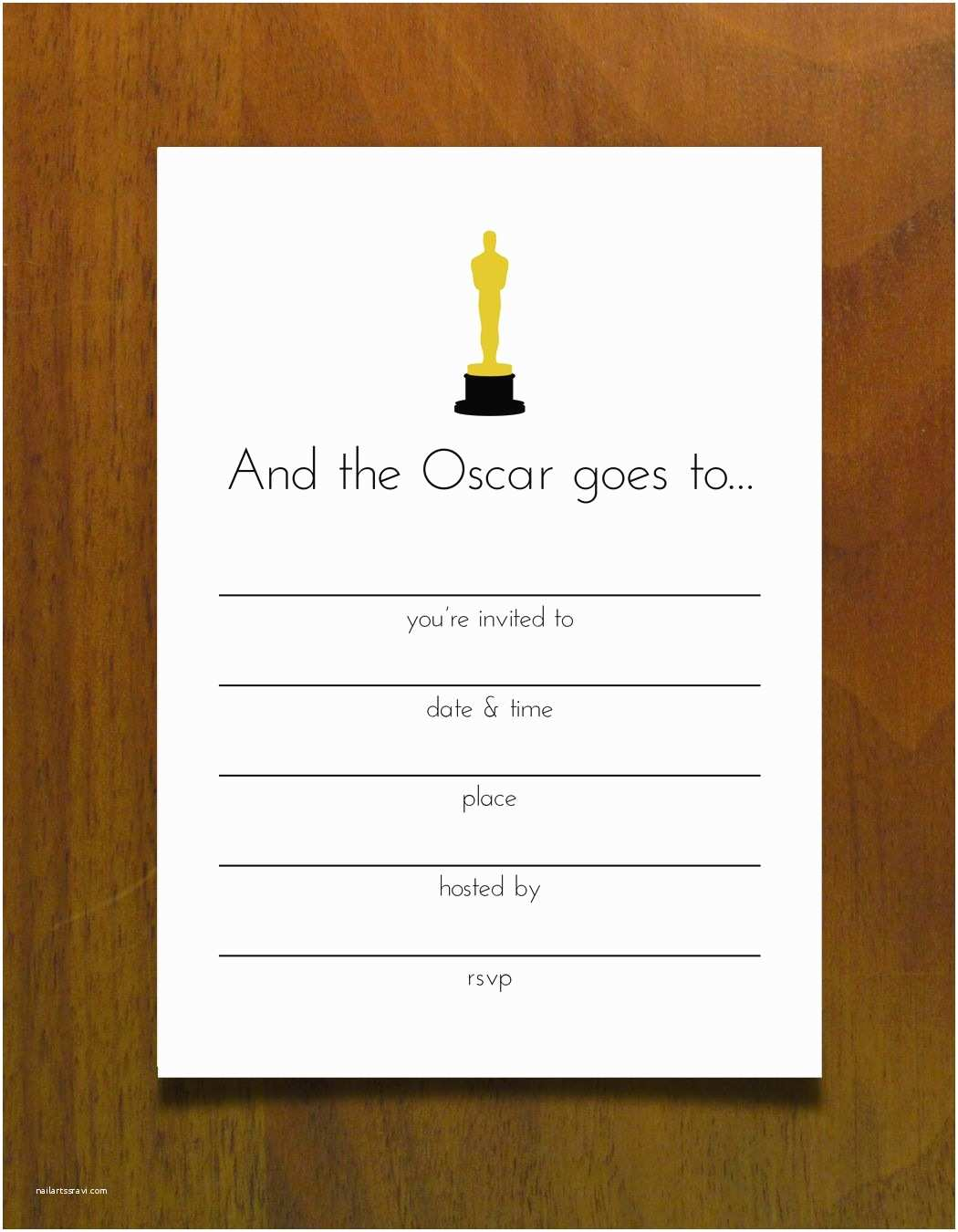 Oscar Party Invitations Free Printables for An Oscar Party Invite Oscars Free