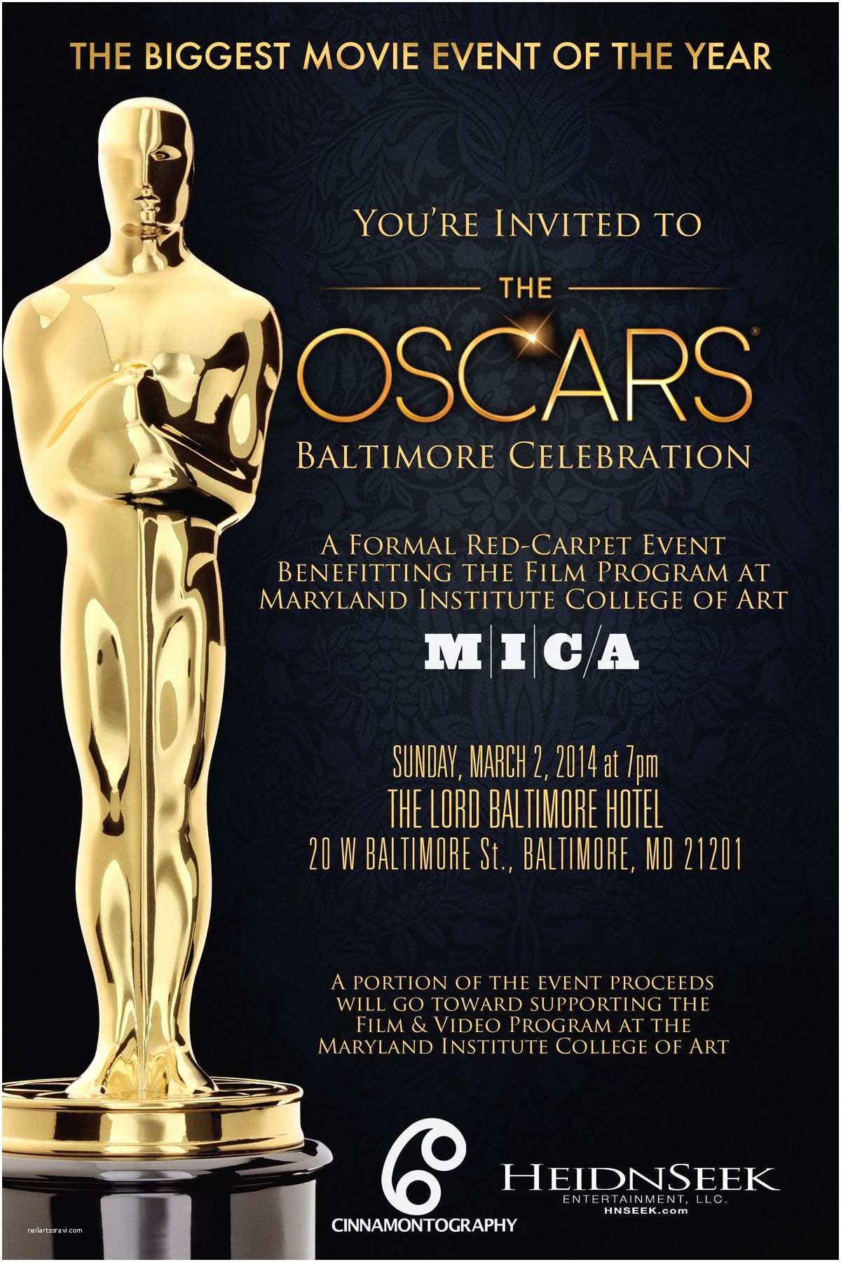 Oscar Party Invitations Date Night The Dating Divas