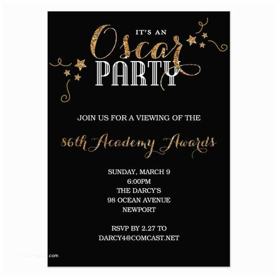 oscar invitation template