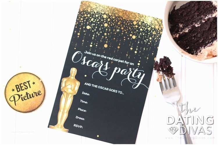 Oscar Party Invitations Oscar Party Date Night the Dating Divas