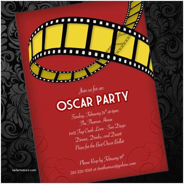 Oscar Party Invitations Oscar Party Invitation Template – Download & Print