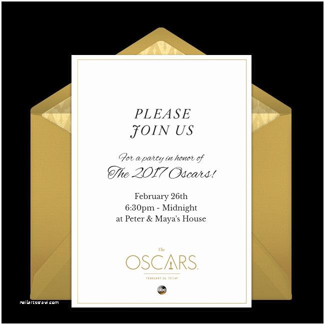 Oscar Party Invitations Printable Oscars Ballot
