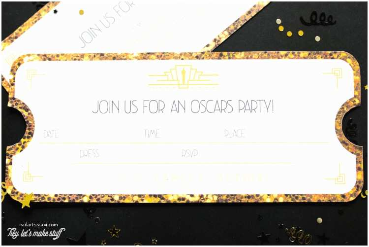 Oscar Party Invitations Printable Oscars Party Invitations Hey Let S Make Stuff