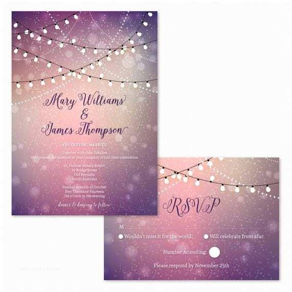 Outdoor Wedding Invitations 17 Best Ideas About Fairy Lights Wedding On Pinterest
